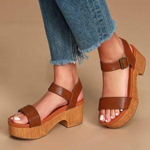 Izabel chunky Wooden Sole Flatforms